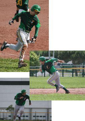 Coureur baseball match boucaniers