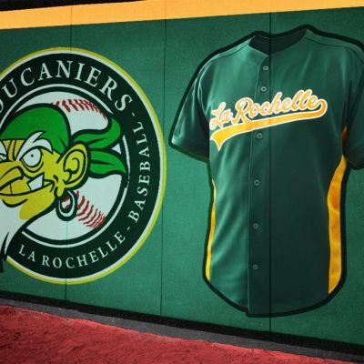 Nouvelle chemise de baseball Boucaniers La Rochelle