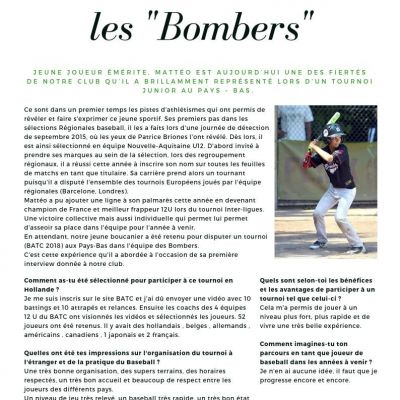 Article de baseball Boucaniers Les bombers
