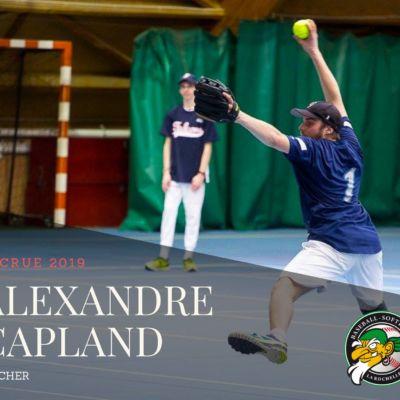 Alexandre Capland Lanceur Softball Boucaniers