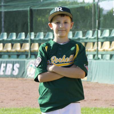 Photo de Isaac joueur de baseball à la Rochelle