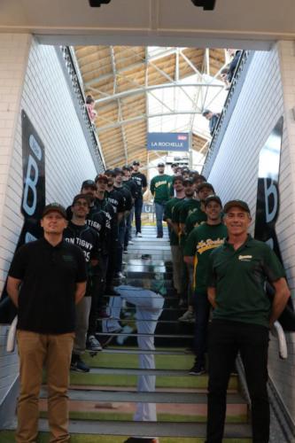 Inauguration des escaliers SNCF et accueille des joueurs de Montigny